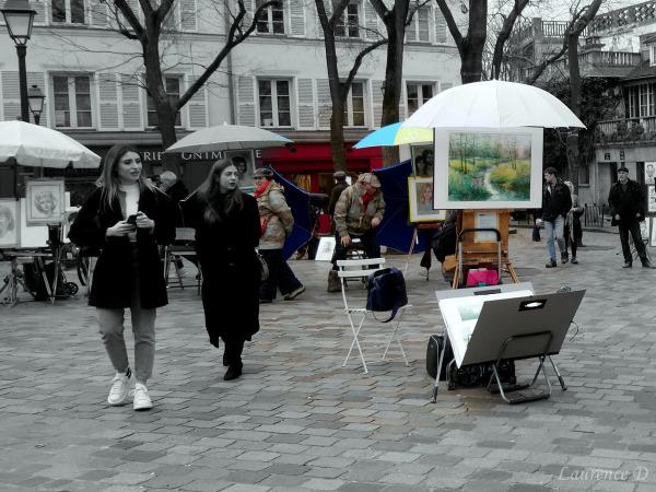 Montmartre, place du Tertre à Paris