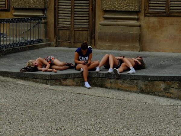 Oh, my legs!  (break in Boboli Gardens)